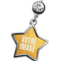 Piercing nombril photo forme étoile