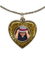 Collier avec pendentif coeur et photo - OFF