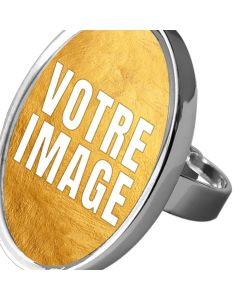 Bague photo ovale ajustable