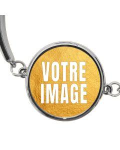 Bracelet photo rond