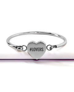 Bracelet personnalisé gravé coeur