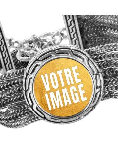 Bracelet photo personnalisé 3 cercle