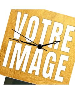 Horloge de table photo carrée