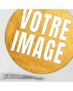 Magnet photo rond métallique 5 cm