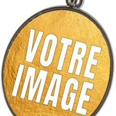 Pendentif photo ovale avec chaine