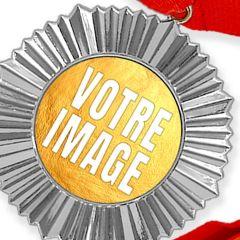 Médaille personnalisée photo Argent