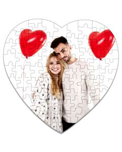 magnet puzzle photo coeur personnalise