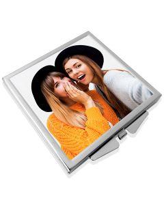 Miroir de poche personnalise carré