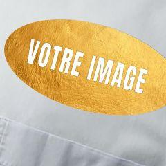 Plaque d'identification photo MDF ovale