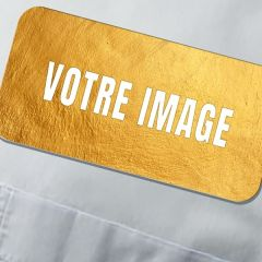 Badge d'identification photo MDF rectangulaire