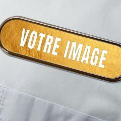 Badge personnalisé photo métallique 71 x 21 mm