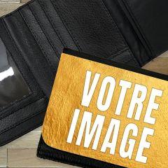 Portefeuille photo cuir 12 x 10 cm