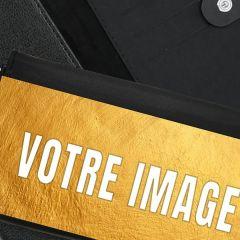 Portefeuille photo cuir 17,5 x 10,5 cm