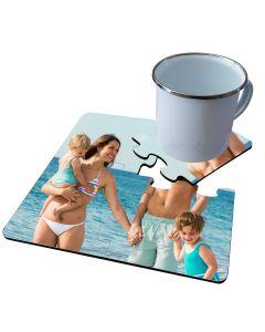 Sous-verre puzzle photo 4 pièces