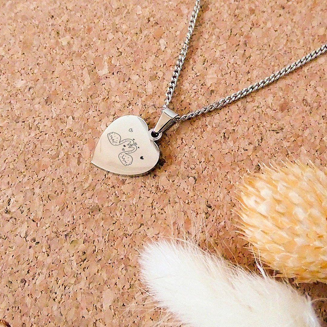 Le collier personnalisé pendentif cœur