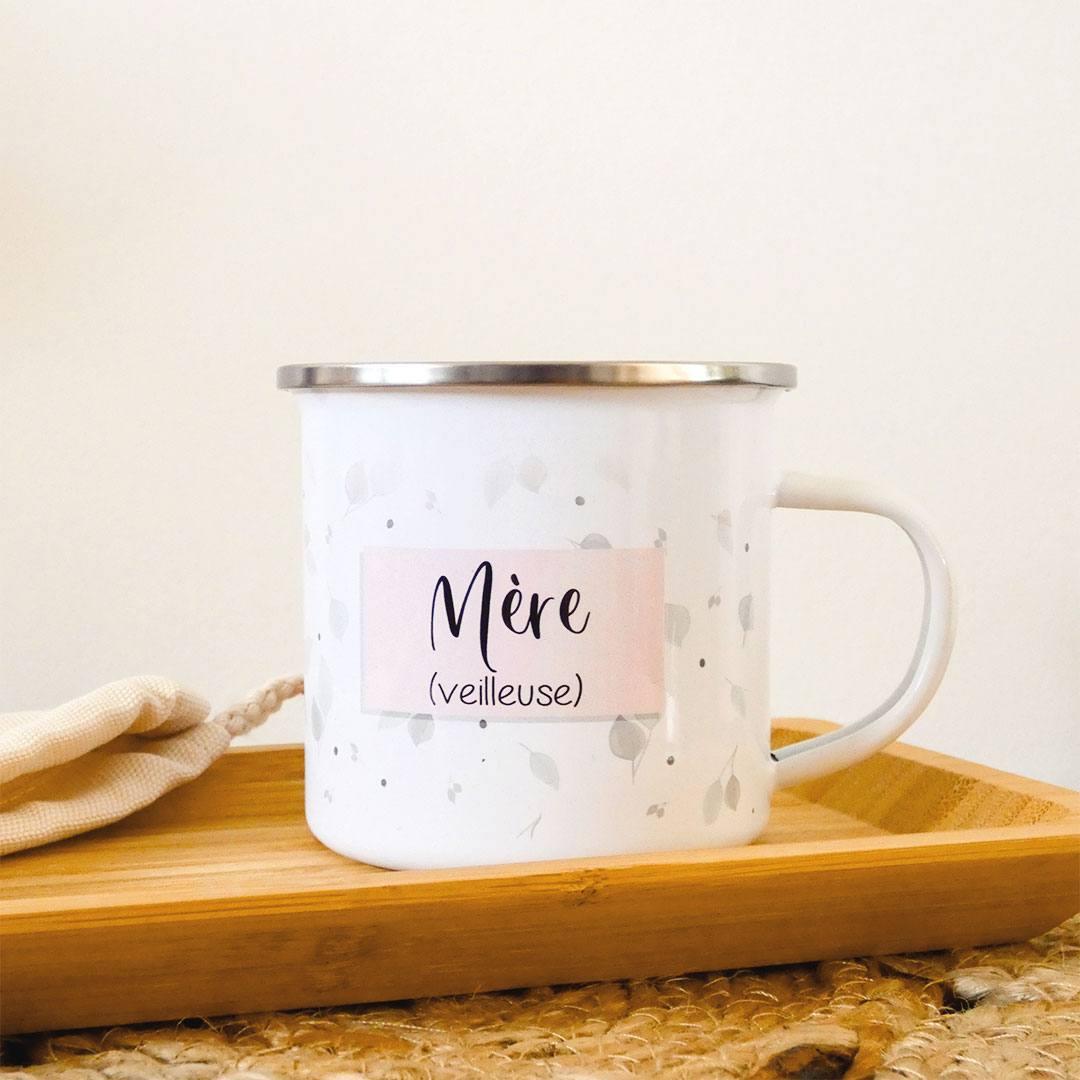 Le mug personnalisé en émail blanc