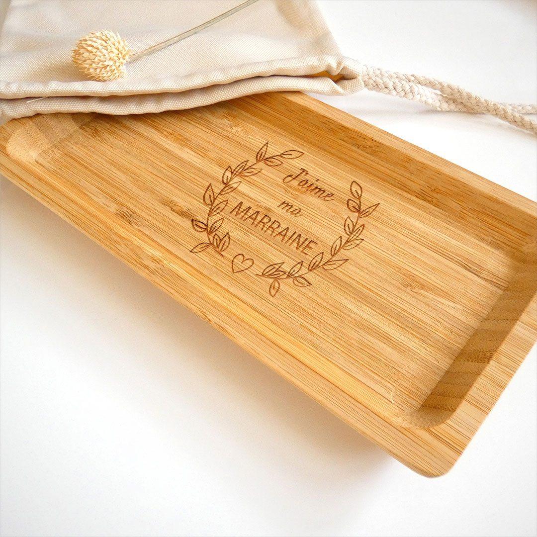 Le vide-poches en bois personnalisé