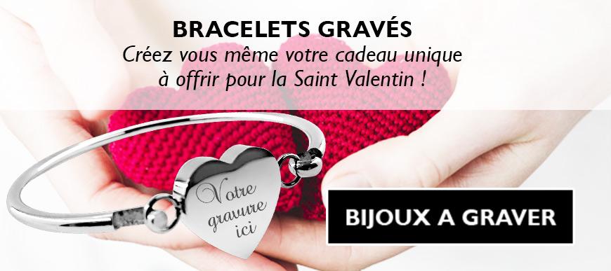 Bracelets saint valentin gravés