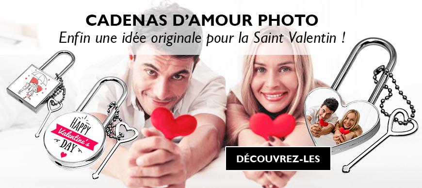 Cadeau cadenas photo d'amour saint valentin