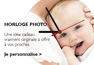 horloges personnalisées photo