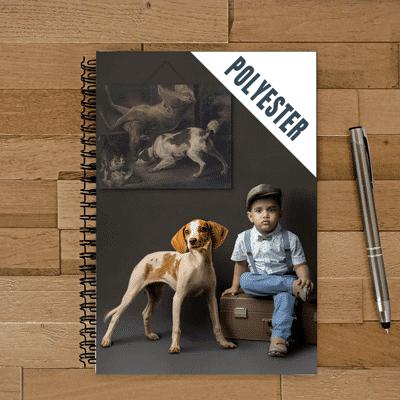 cahier spirale personnalisé photo enfant chien