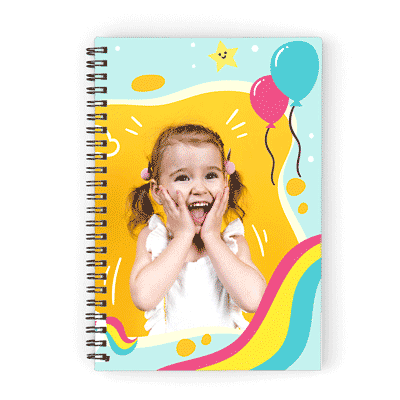 carnet de notes personnalise photo coloré cadeau enfant
