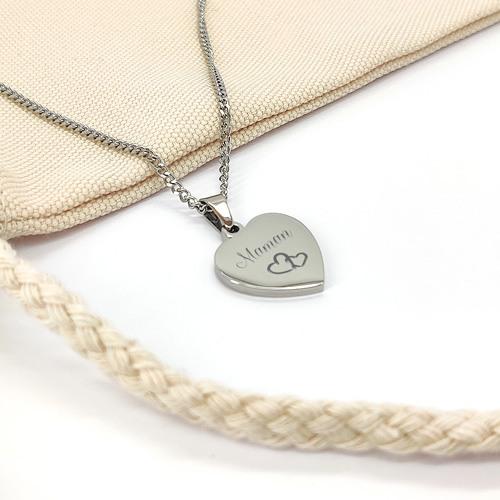 collier coeur pendentif personnalise cadeau fete des meres