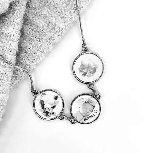 collier pendentif personnalise photo cadeau fete des mères