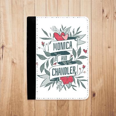 cahier personnalisé bloc note illustration dessin monica and chandler