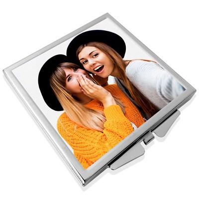 miroir de poche personnalisé photo meilleures amies
